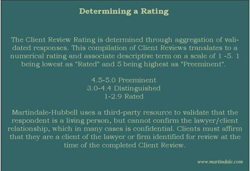 how to get a martindale hubbell av rating